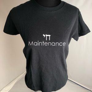 Chai Maintenance black crew neck t-shirt M